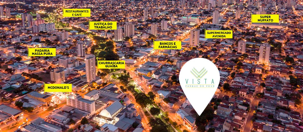 Mapa da localização do condomínio Vista